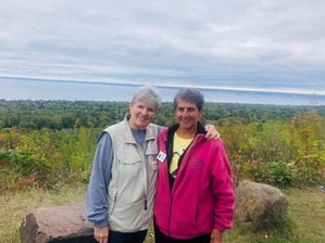 Jeanne F and Gail M at Hawk Ridge Sept 2019