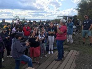 Margie doing bird demo for public - J Richardson Sept 19 5