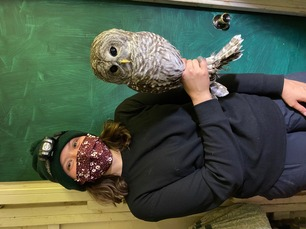 Banding Trainee Halle and Barred Owl Oct 20 3