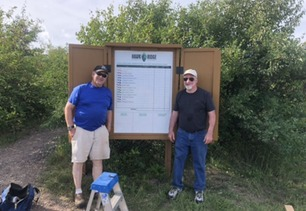 Ralph Larsen and Dave Carman New Count Board Display